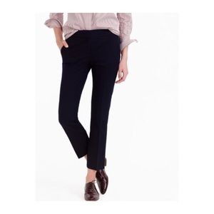 J. Crew Campbell Black Career Ankle Pants Stretch